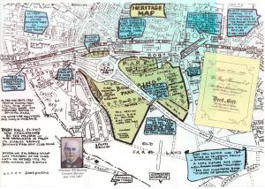 Annotated map of Bowring Park